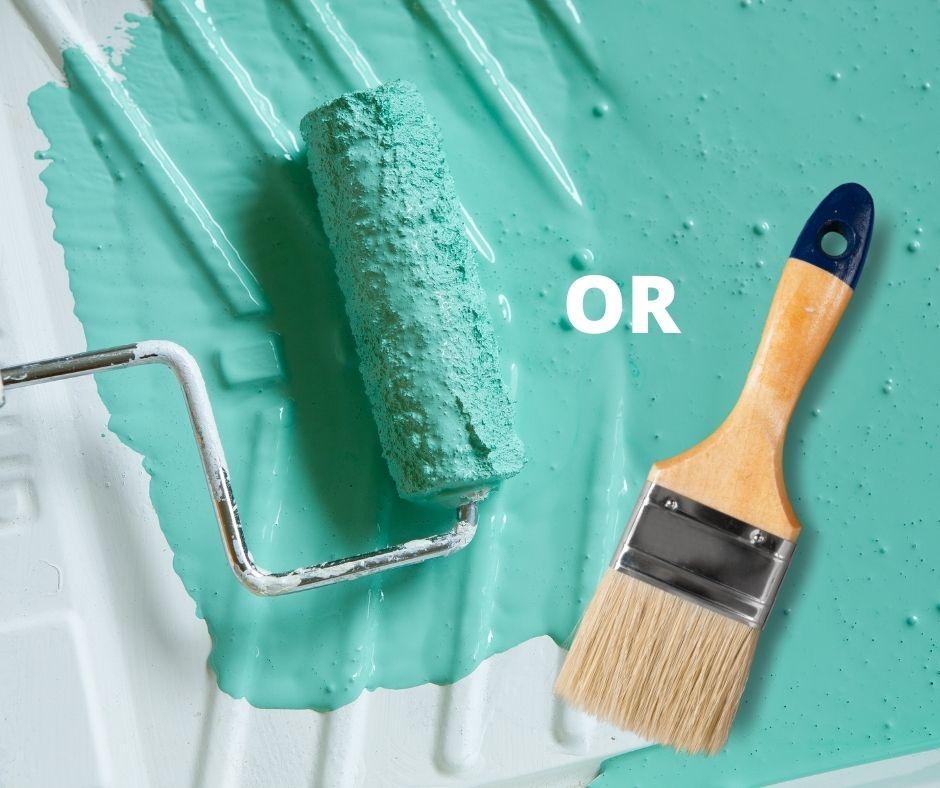 Paint Roller vs. Paintbrush advantages and disadvantages